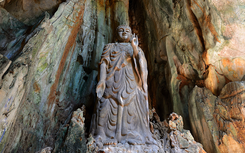 Budda statue Marble mountain Vietnam Crystal Cruis