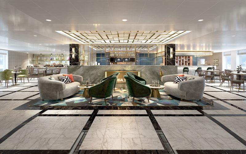 Bistro Lounge aboard Crystal Endeavor