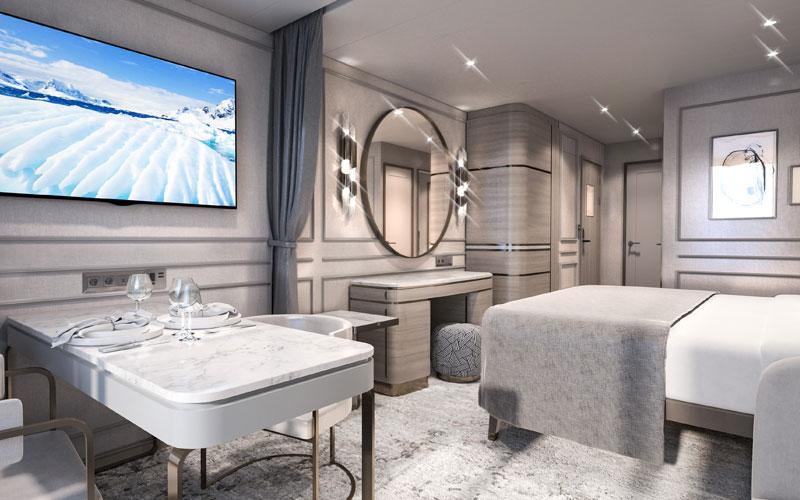 Deluxe Suite aboard Crystal Endeavor