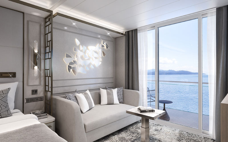 Deluxe Suite Living Room on Crystal Endeavor