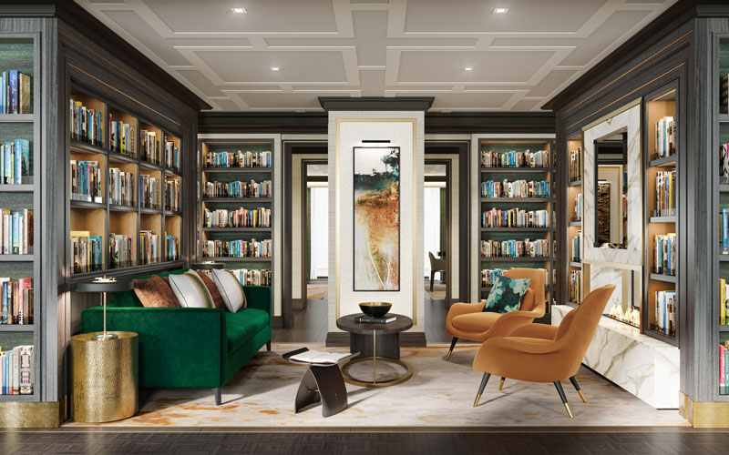 Library aboard Crystal Endeavor