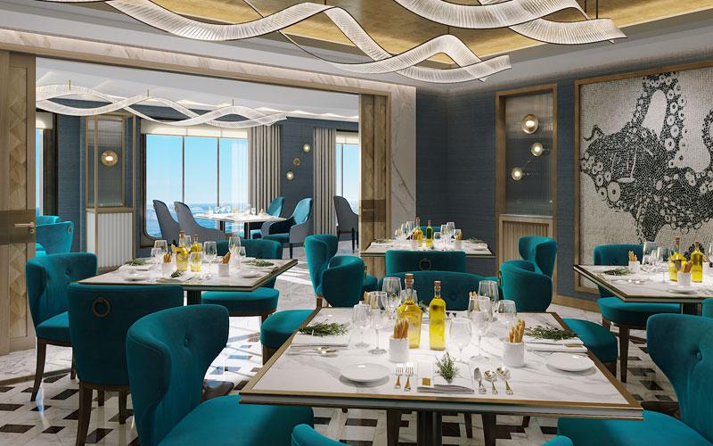 Prego Restaurant aboard Crystal Endeavor