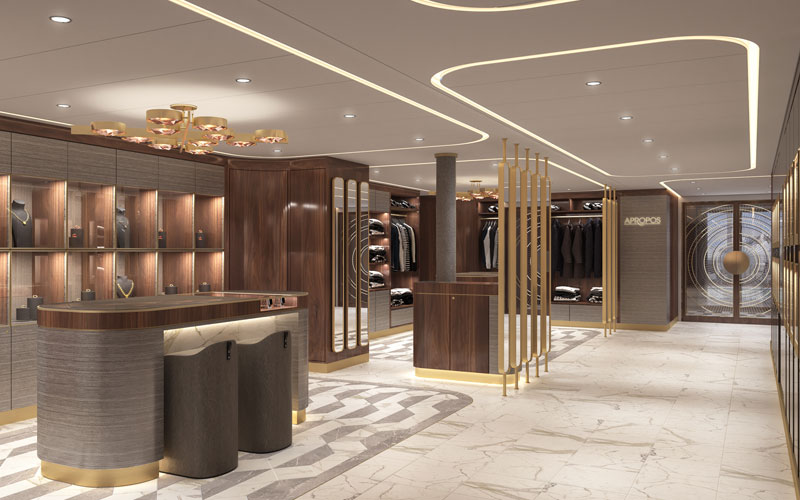 Retail aboard Crystal Endeavor
