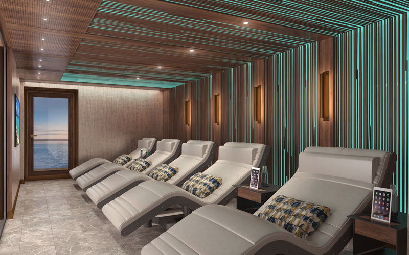Spa Lounge aboard Crystal Endeavor