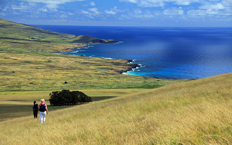 Hiking Easter Island South Pacific Crystal Cruises