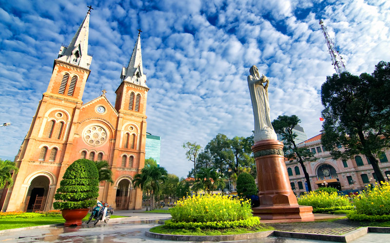 Notre Dame Cathedral Ho Chi Minh Crystal Cruises