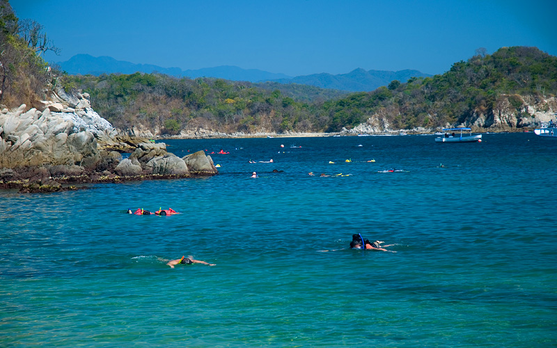 Snorkeling in Huatulco, Mexico