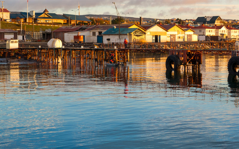 Punta Arenas cityscape Chile Crystal Cruises