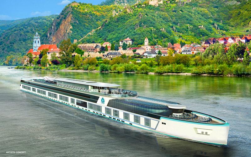 Crystal Mahler sailing a European river