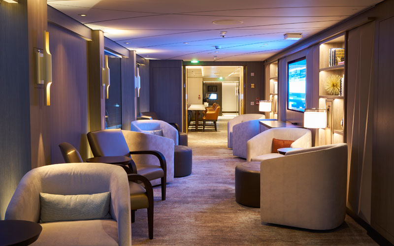 Lounge aboard Crystal Ravel