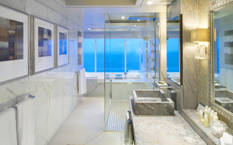 Penthouse Bathroom aboard Crystal Symphony