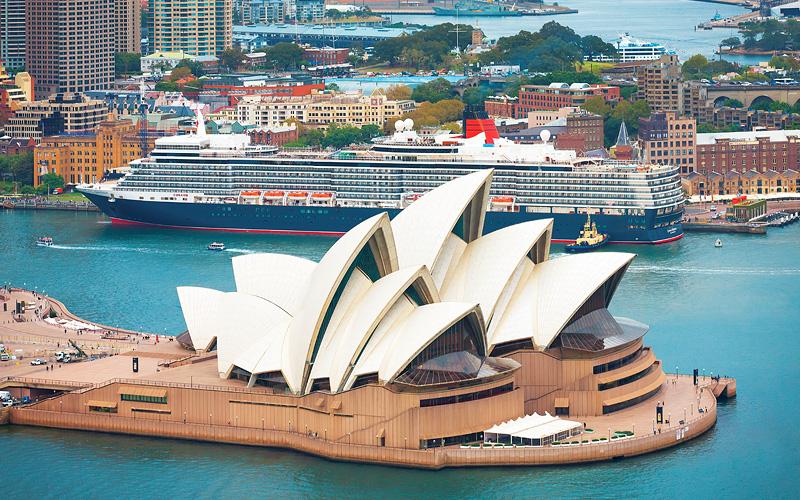 Sydney Opera House Cunard Line World