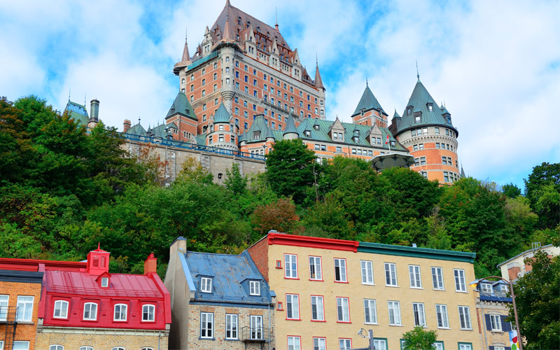 Chateau Frontenac Quebec City Canada Cunad Line