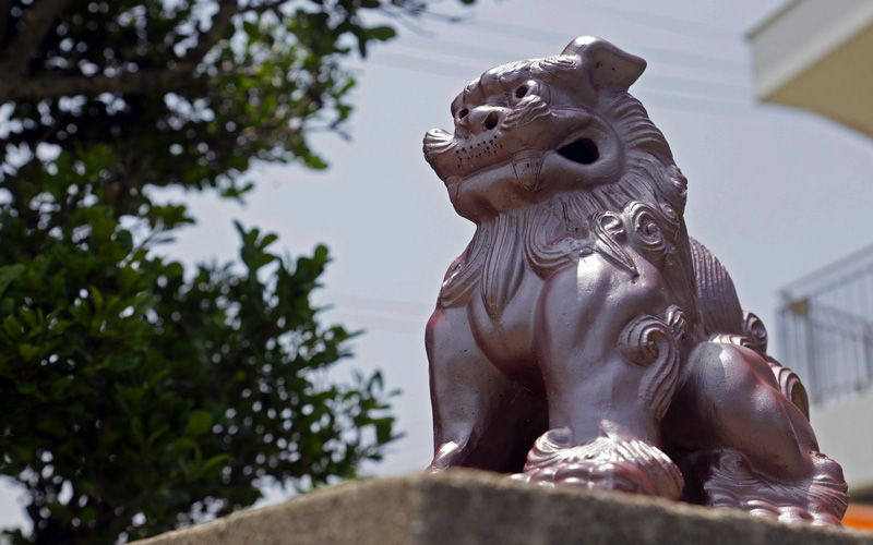 Lion Statue in Okinawa, Japan - Cunard Line