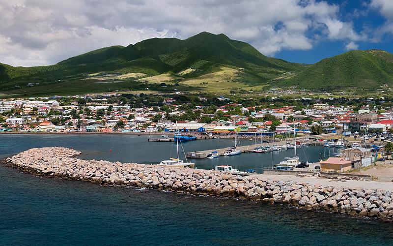 Panorama Basseterre St Kitts Cunard Line Caribbean