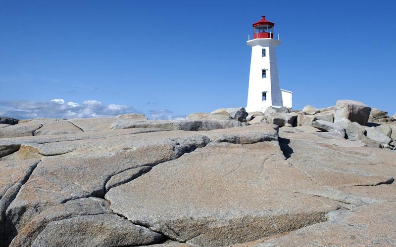 Peggys Cove Lighthouse, Nova Scotia Cunard Line