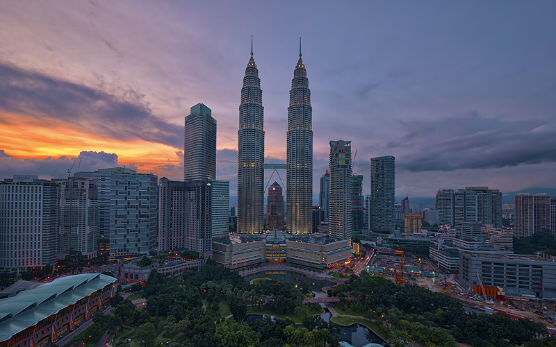 Petronas Twin Towers in Kuala Lumpur Cunard Line