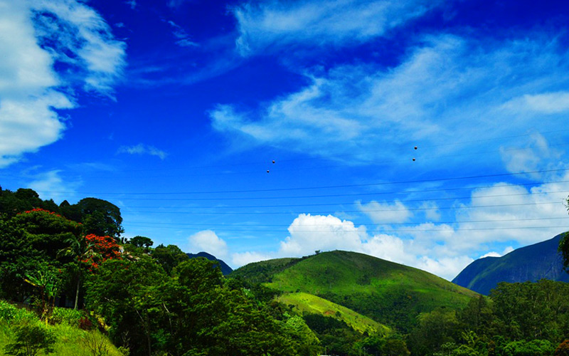 Hills of Petropolis, Brazil - Cunard Line