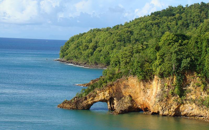 St. Lucia Arch in Castries Caribbean Cunard Line