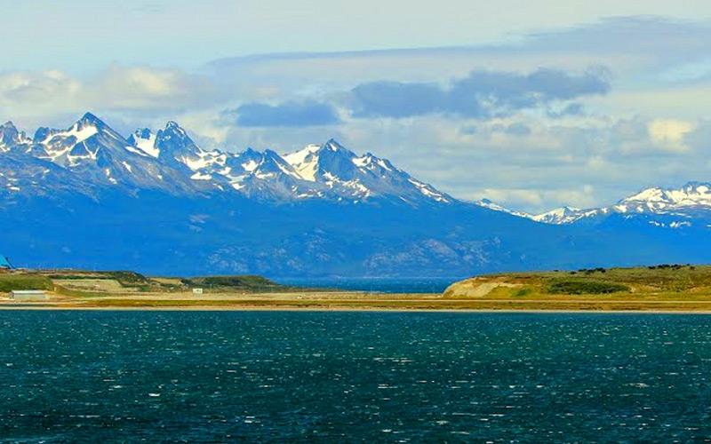 Mountains Behind Ushuaia - Cunard Line