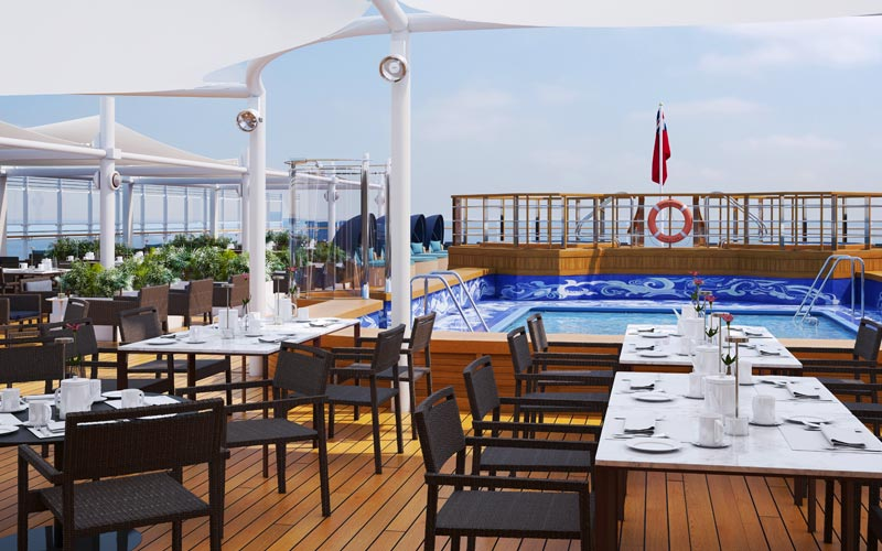 Pool Deck During the Day Aboard Queen Victoria