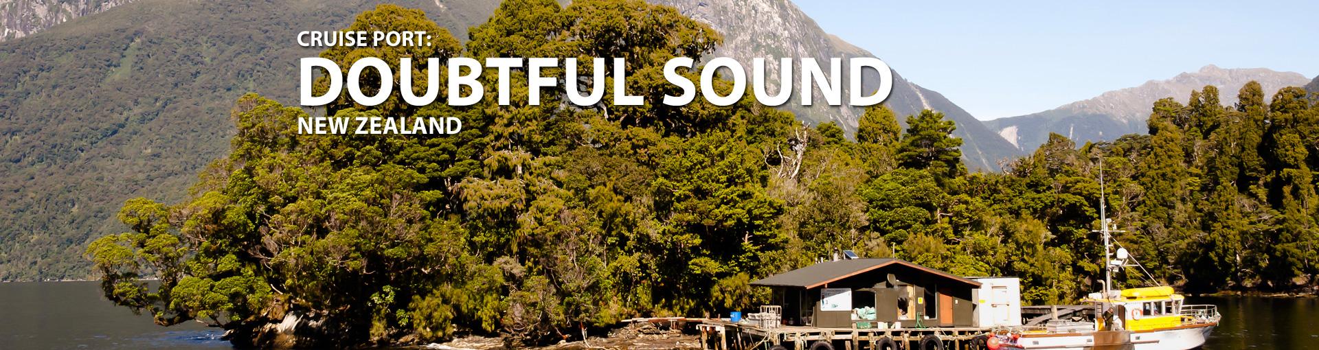 Cruises to Doubtful Sound, New Zealand