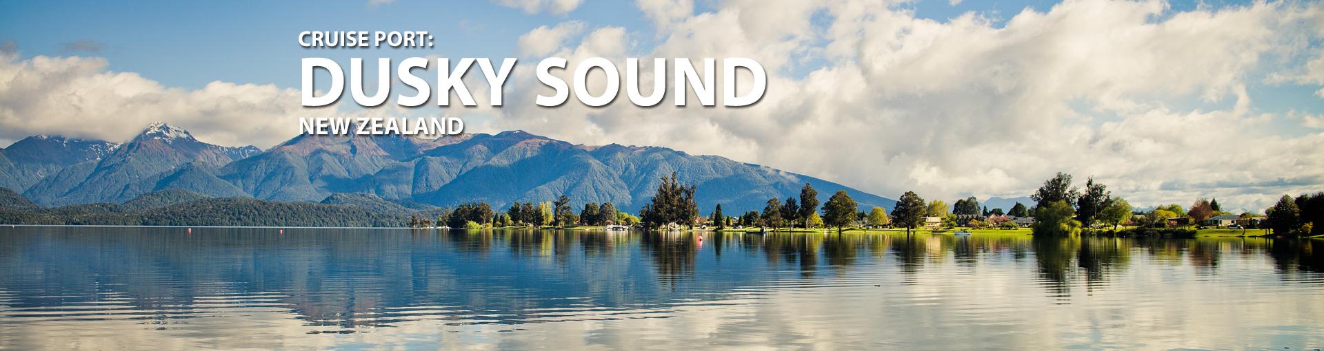 Cruises to Dusky Sound, New Zealand