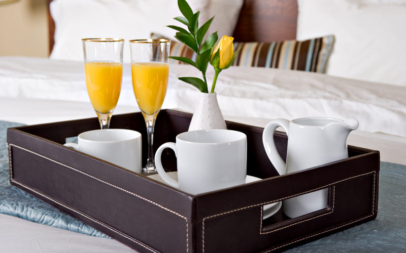 Enjoy breakfast in bed