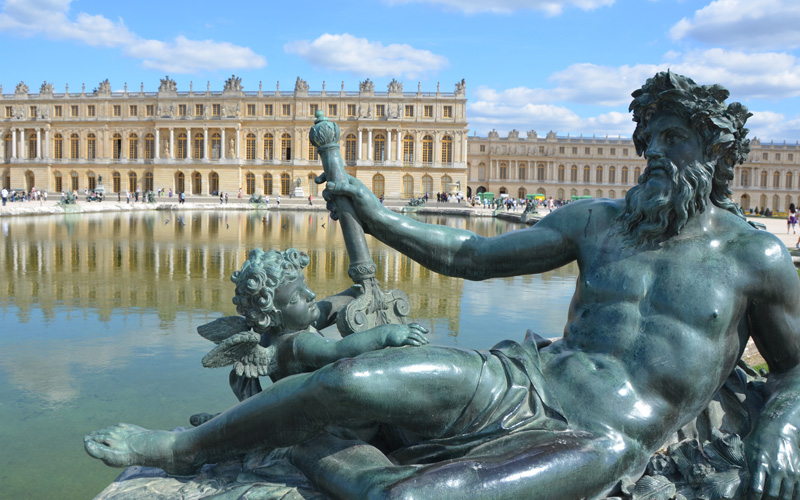 Sculptures in Versailles near Paris in France