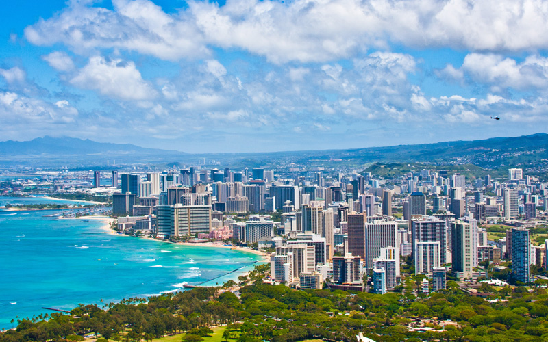 Beautiful Skyline of Oahu, Hawaii Cruisetours
