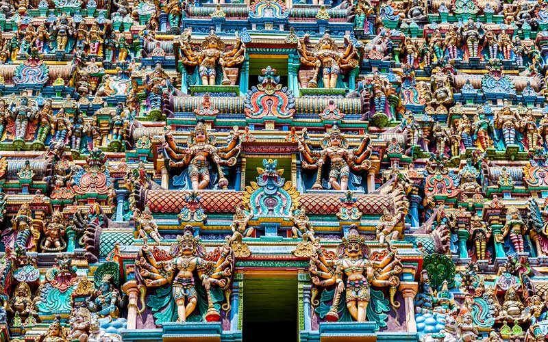 Hindu temple, Meenakshi Temple, Madurai, India