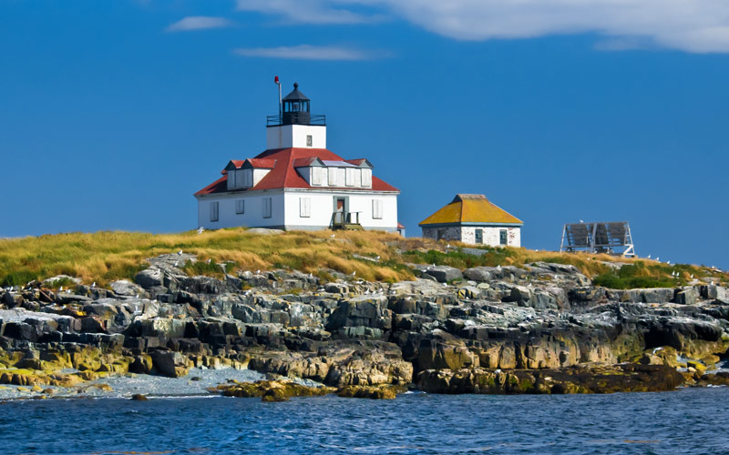 Historic Egg Rock Lighthouse in Maine