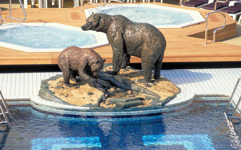 Holland America Line Amsterdam Lido Pool Sculpture