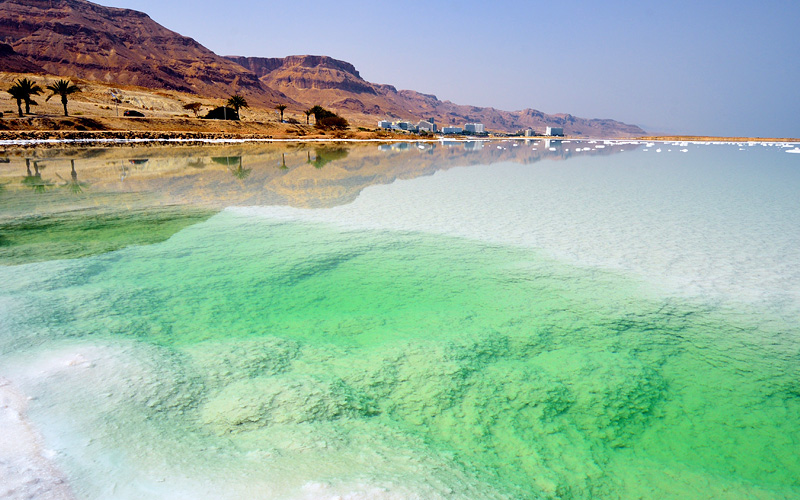 Beach of the Dead Sea in Israel Holland America
