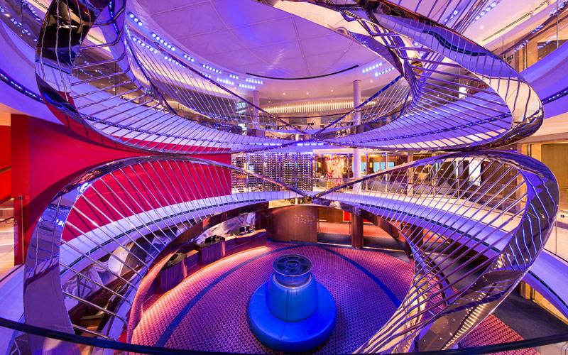 Atrium aboard Holland America Nieuw Statendam
