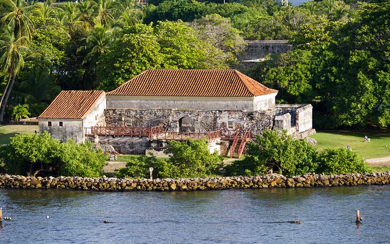 Spanish fort Cartagena harbor Holland America
