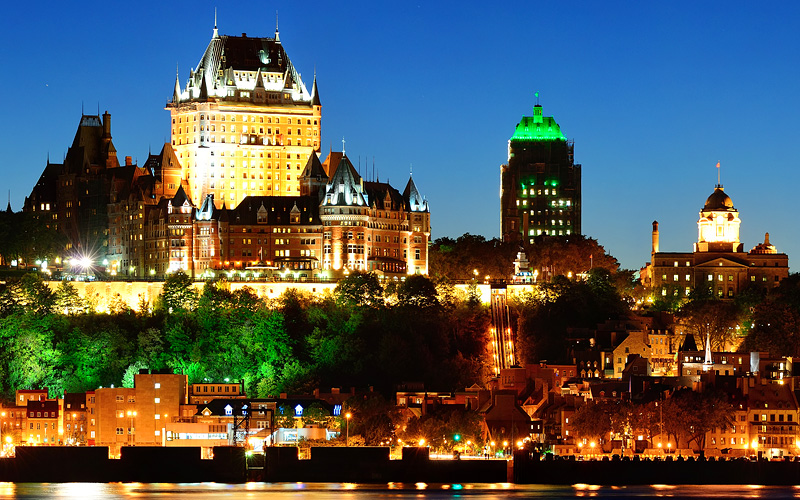 Quebec City skyline Canada Holland America Line