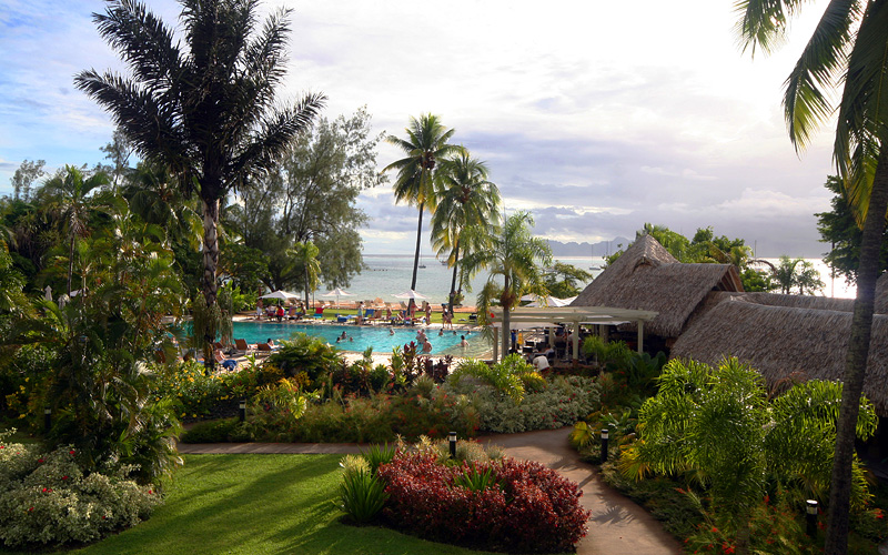 South Pacific tropical resort Holland America