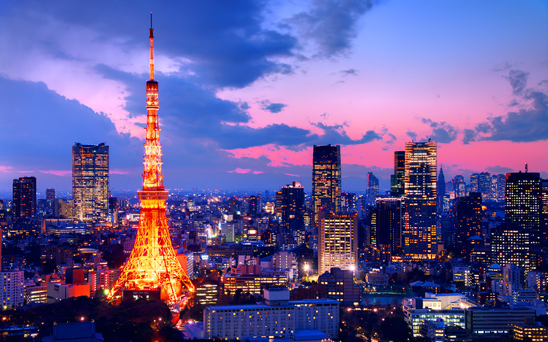 Tokyo Tower Japan Holland America Transpacific