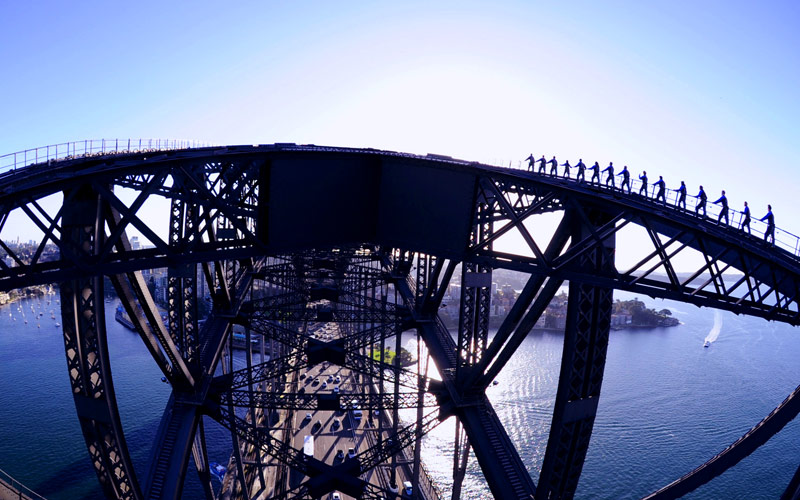 Sydney Bridge climb in Australia