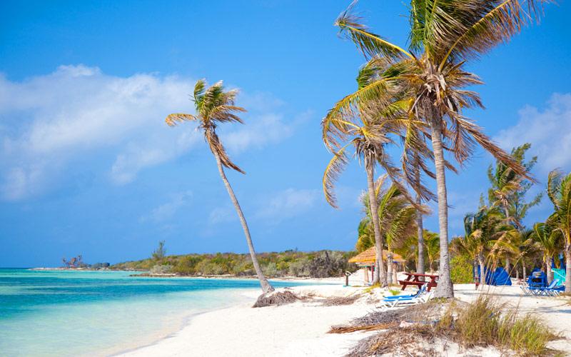 Barefoot Beach in CocoCay, Bahamas