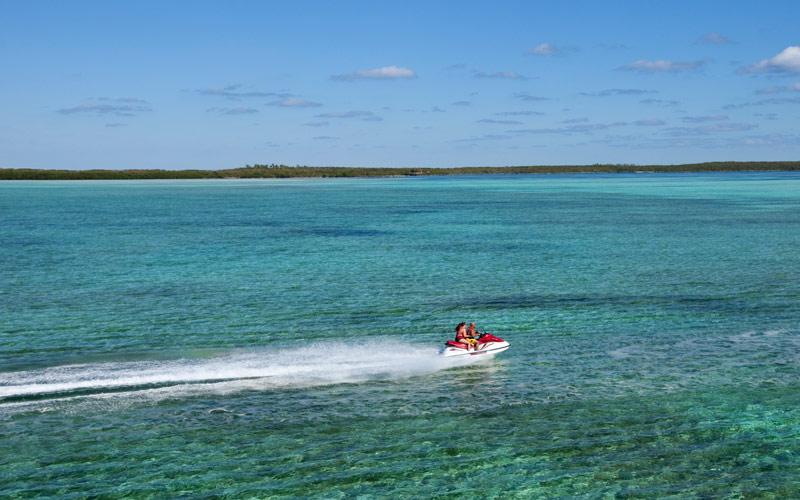 Jet skiing in CocoCay, Bahamas