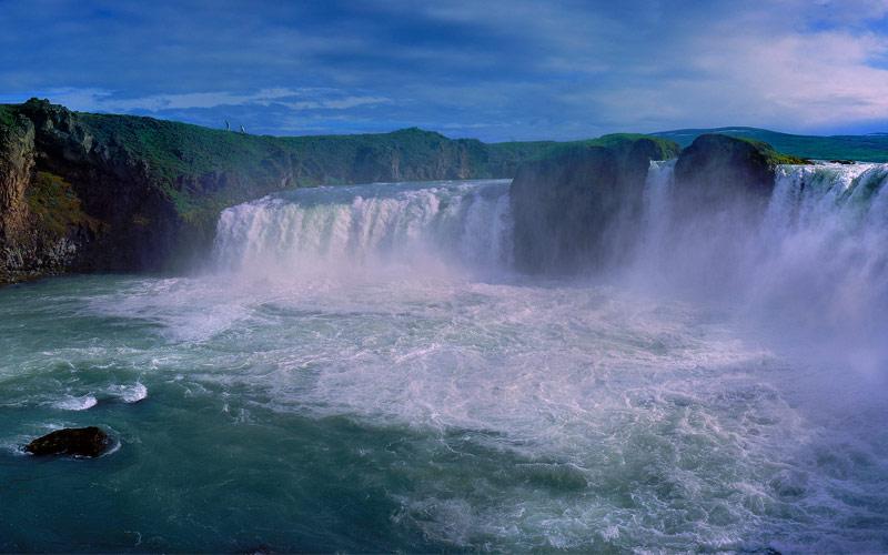 Godafoss Falls in Iceland