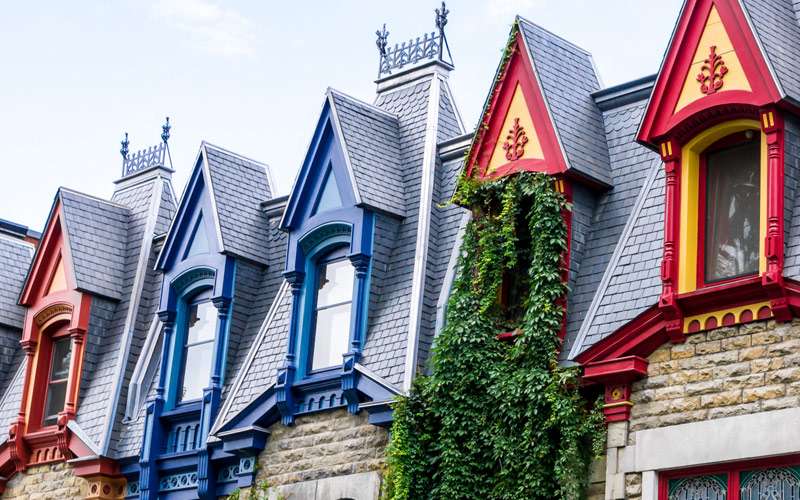 Houses in Montreal, Canada