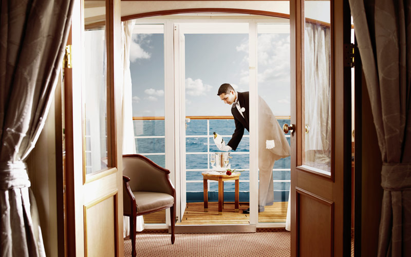 Butler service on a Silversea cruise