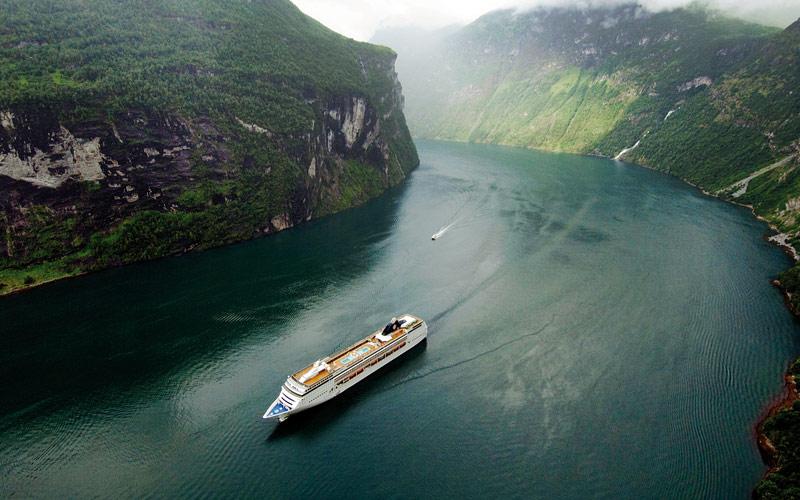 Norwegian fjords of Northern Europe