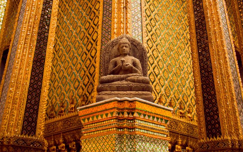 Gold Buddha in the Bangkok Temple