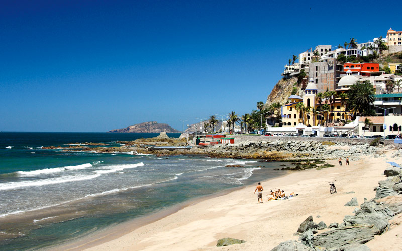 The beach town of Mazatlan, Mexico