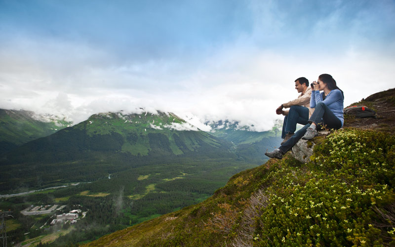 Guests enjoy the view of Alaska