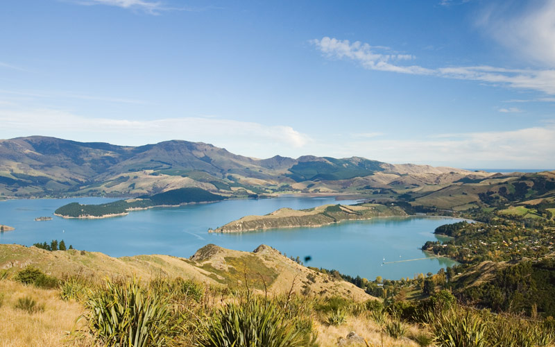 Mountains and lakes surround New Zealand